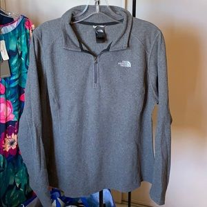 North face polar fleece grey